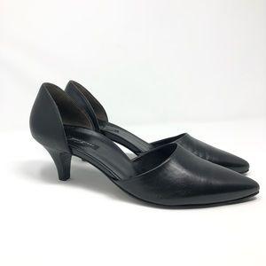 Paul Green black leather heels size: 5 1/2UK  8US